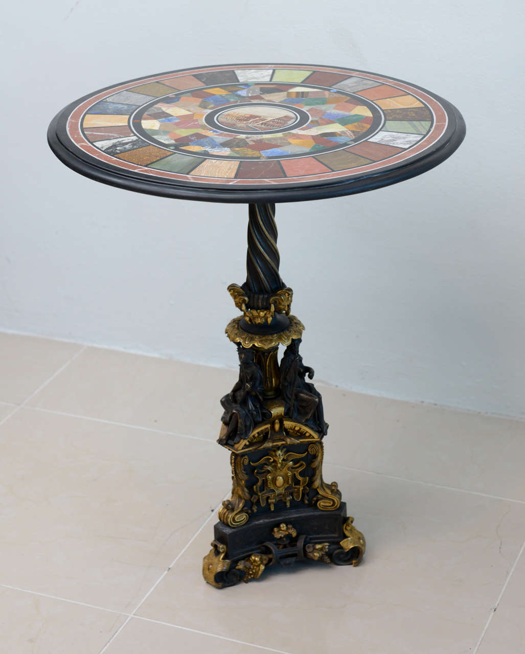 Fine Specimen Marble and Micromosaic Top Table For Sale at 1stdibs