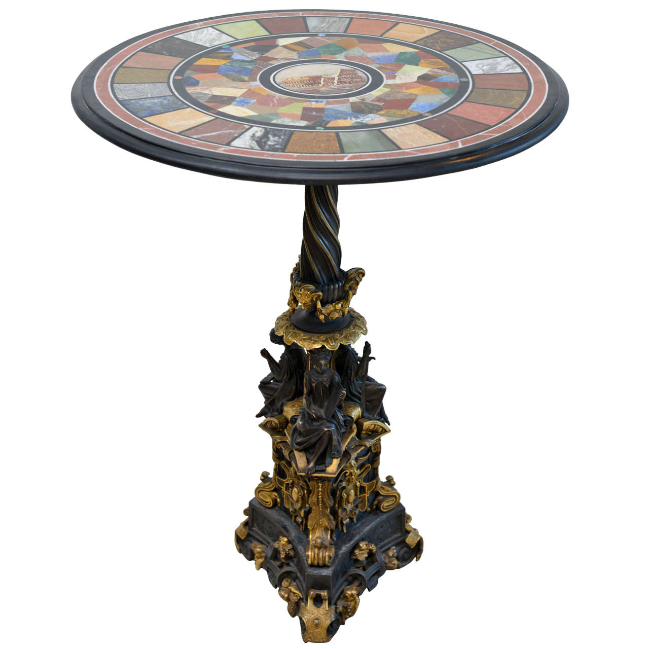 Fine Specimen Marble and Micromosaic Top Table