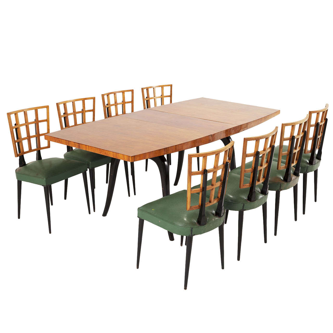 Highly rare 39 bossa nova 39 dining room set brazil 1950 39 s for Complete dining room sets