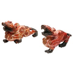 Pair of Antique Chinese Foo Dogs