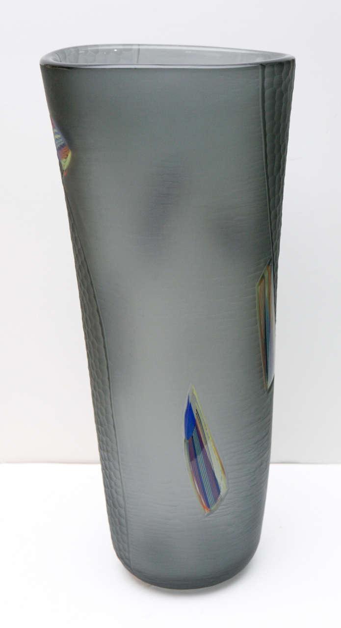 Unique Large Black Venetian Glass Vase For Sale At 1stdibs
