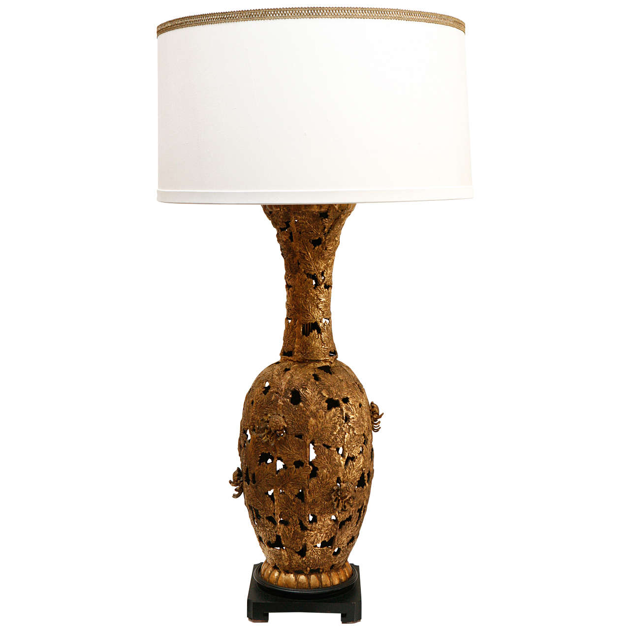 Vintage Bronze Table Lamp At 1stdibs