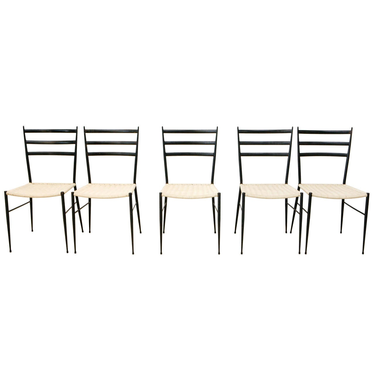 Set Of 12 Superleggera Chairs In The Style Of Gio Ponti 1
