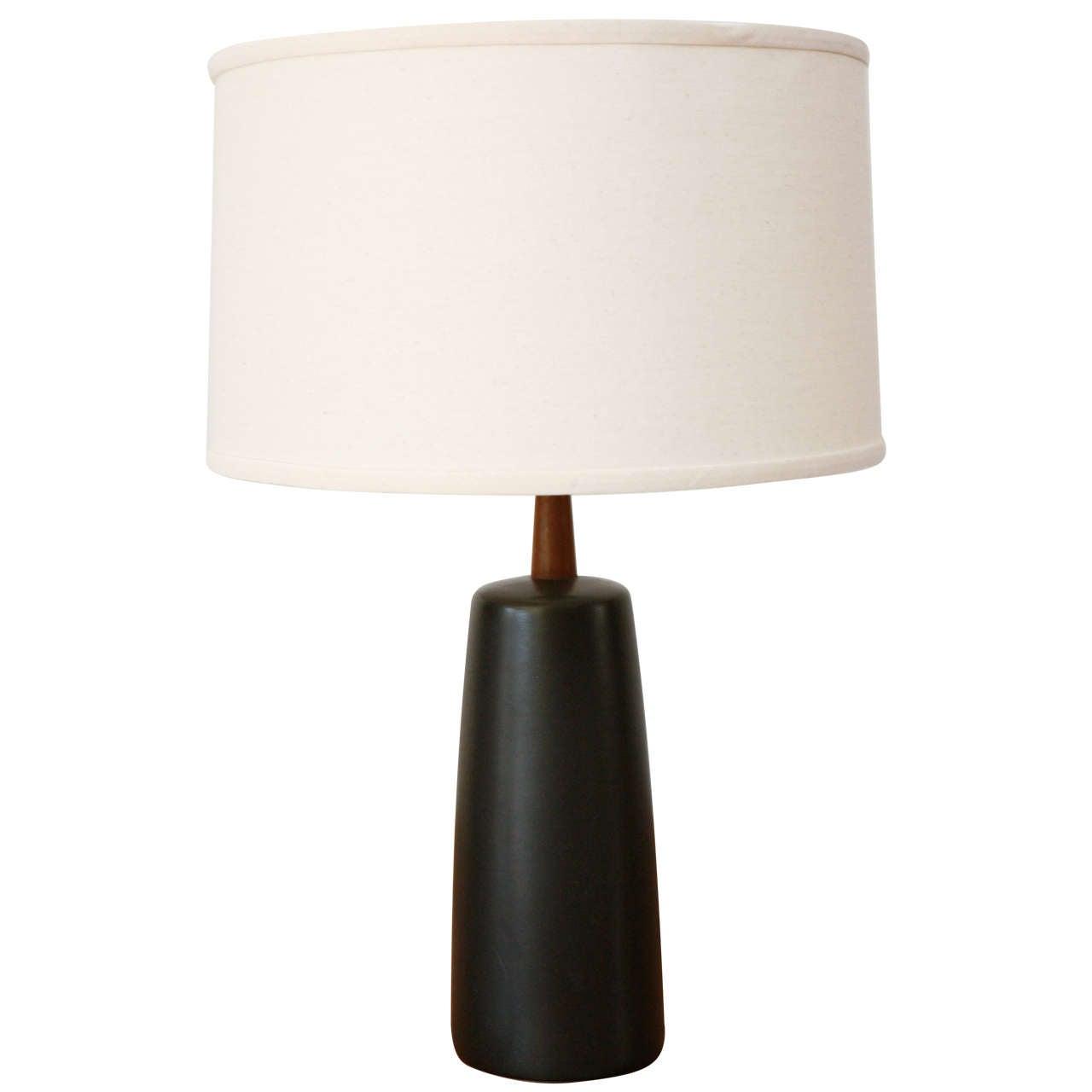 Matte Black Ceramic Martz Lamp by Marshall Studios at 1stdibs