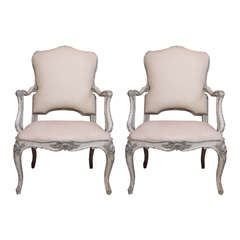 Pair of 19th Century Painted Italian Armchairs
