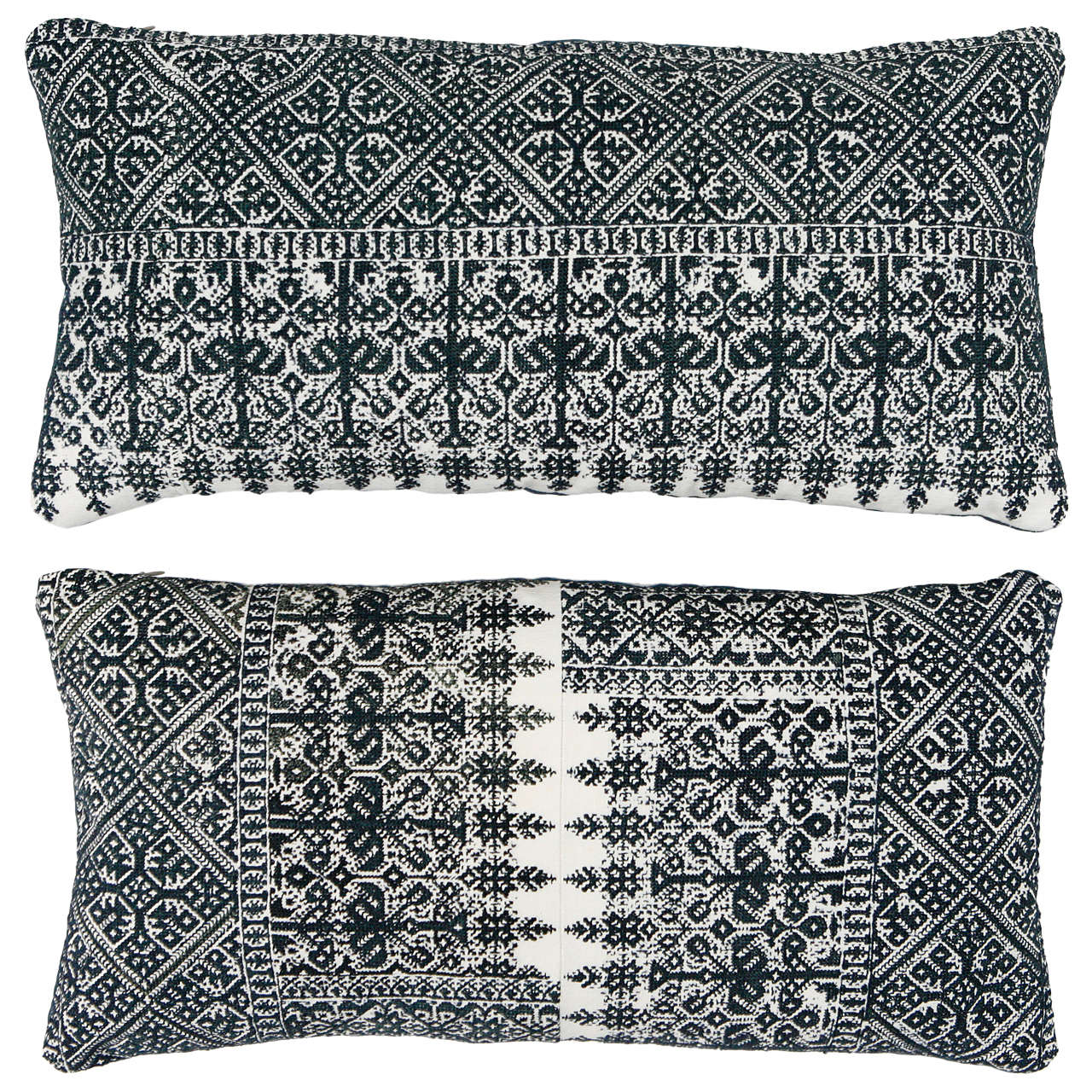 Moroccan Fez Embroidery Pillows At 1stdibs