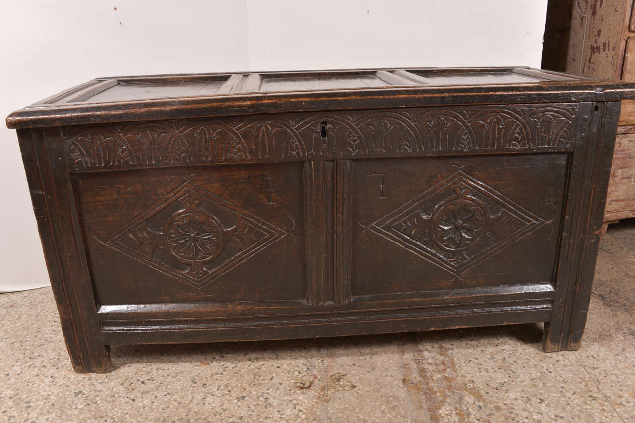 Early English Oak Chest For Sale 2