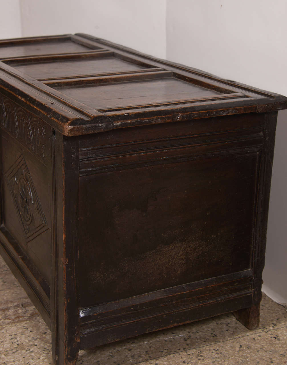 Early English Oak Chest For Sale 3