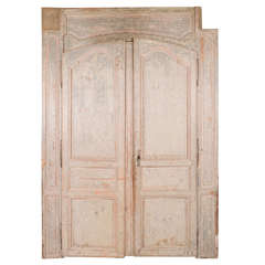 Painted Louis XVI Doors With Surround