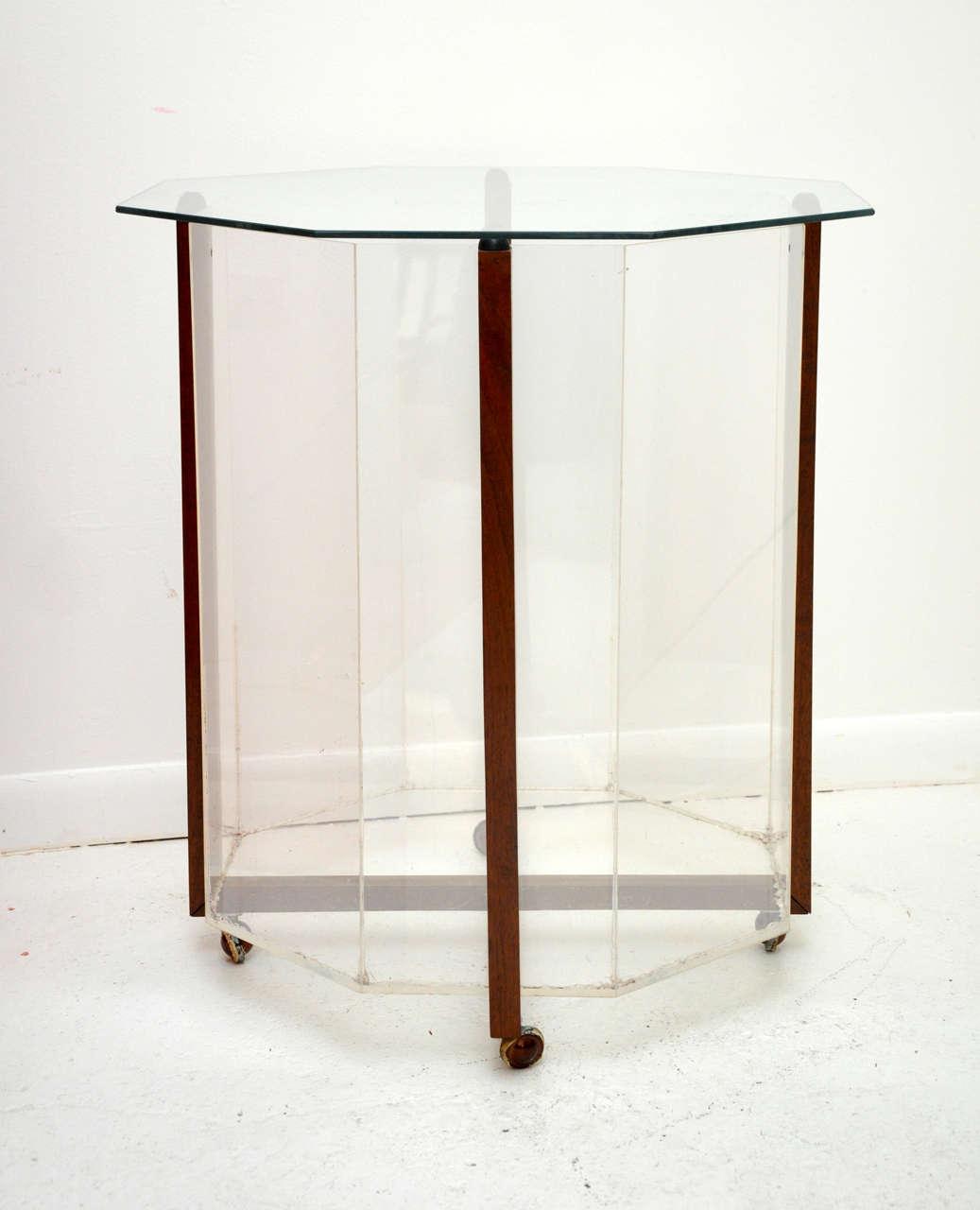 Octagon terrarium table at 1stdibs Table terrarium