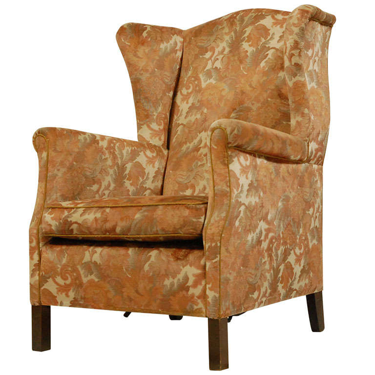 english wingback armchair for sale at 1stdibs. Black Bedroom Furniture Sets. Home Design Ideas