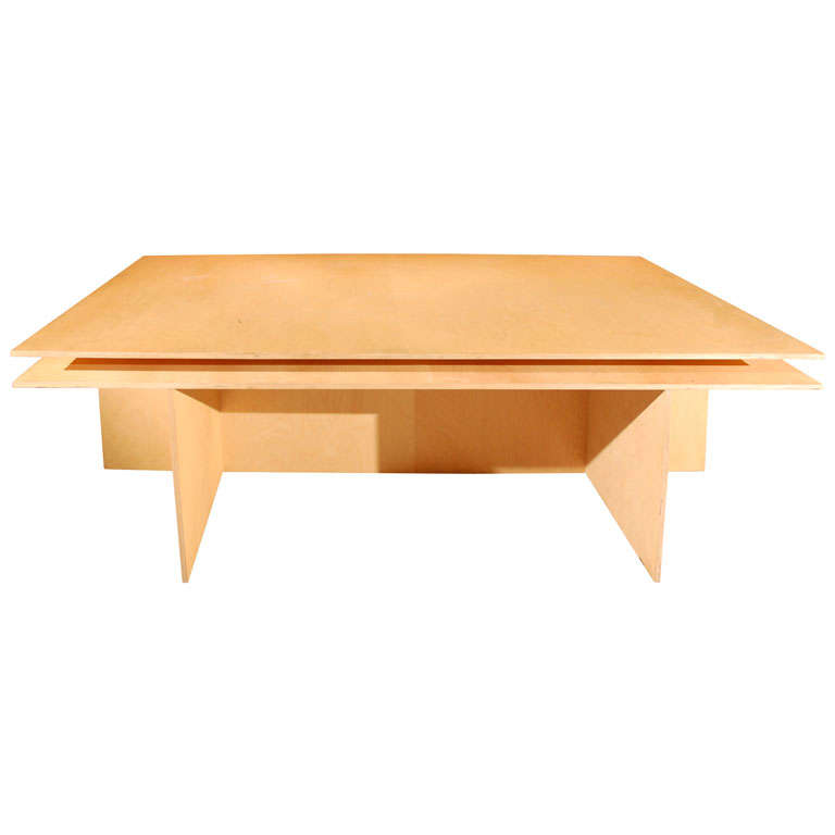 Plywood Table By Donald Judd At 1stdibs