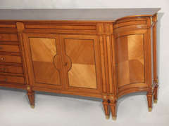 Magnificent Large Neoclassical Style French Walnut Sideboard thumbnail 3