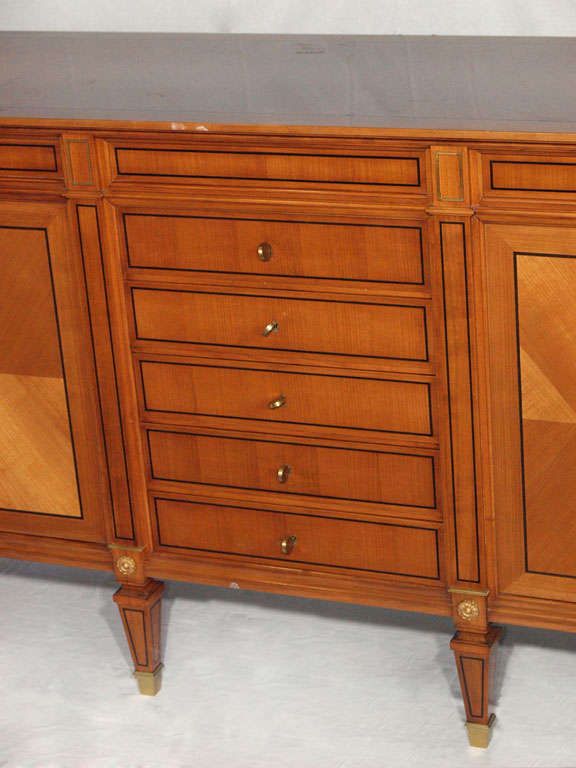 Magnificent Large Neoclassical Style French Walnut Sideboard image 4