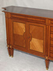 Magnificent Large Neoclassical Style French Walnut Sideboard thumbnail 5