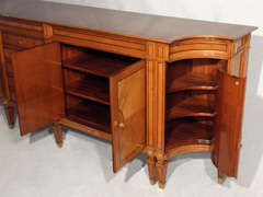 Magnificent Large Neoclassical Style French Walnut Sideboard thumbnail 6