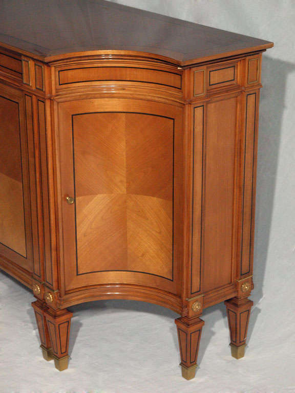 Magnificent Long Neoclassical French Walnut Sideboard or Credenza 10
