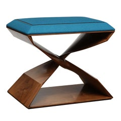 Carol Egan, Sculptural Hand-Carved Walnut Stool, United States, 2012