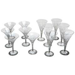 Dorothy Thorpe Martini and Champagne Glasses
