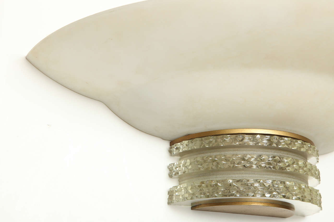 Jean Perzel Pair of Wall Sconces In Good Condition For Sale In Bridgewater, CT