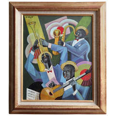 "Bela De Kristo ""Jazz Trio"" Painting"