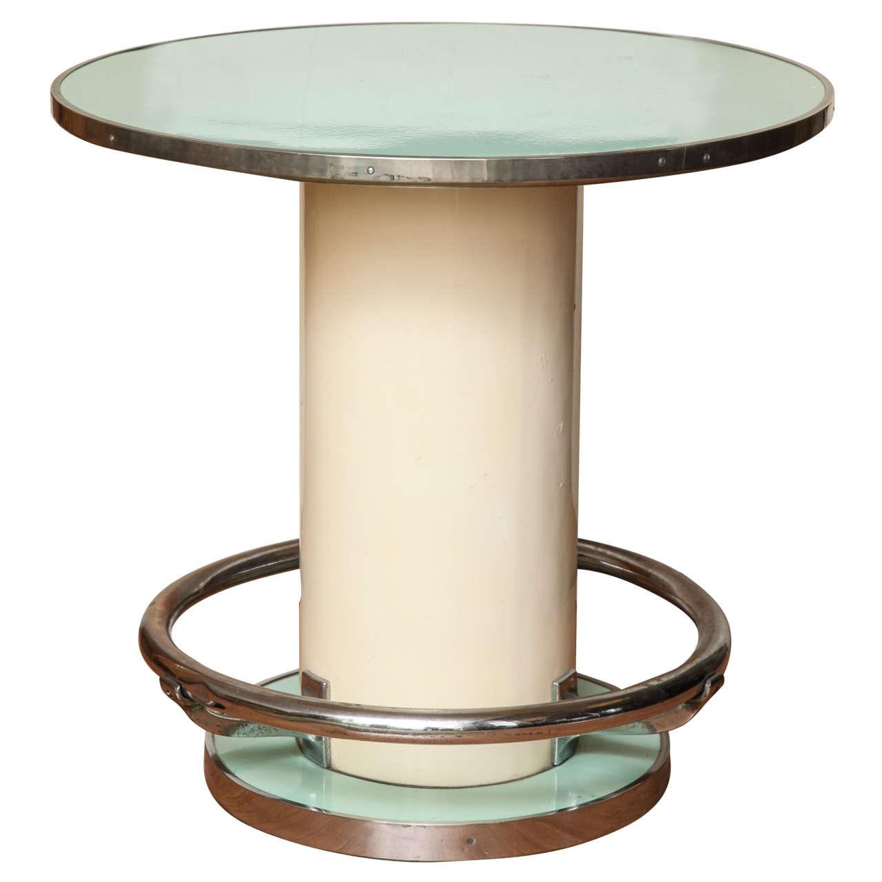 Maison Leleu Modernist Round Table