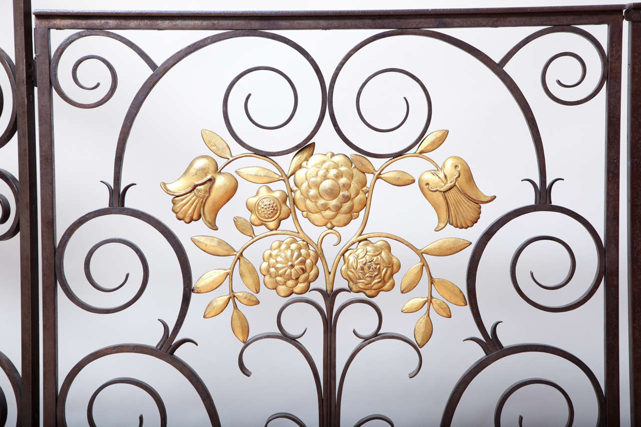 Mid-20th Century French 1940s Wrought Iron Screen/Gate For Sale
