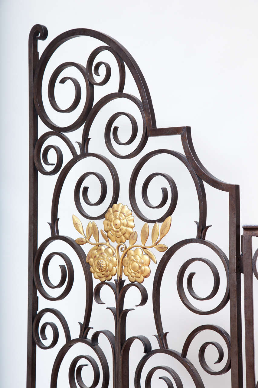 French 1940s Wrought Iron Screen/Gate For Sale 1