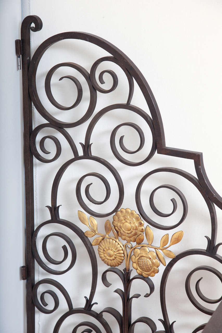French 1940s Wrought Iron Screen/Gate For Sale 2