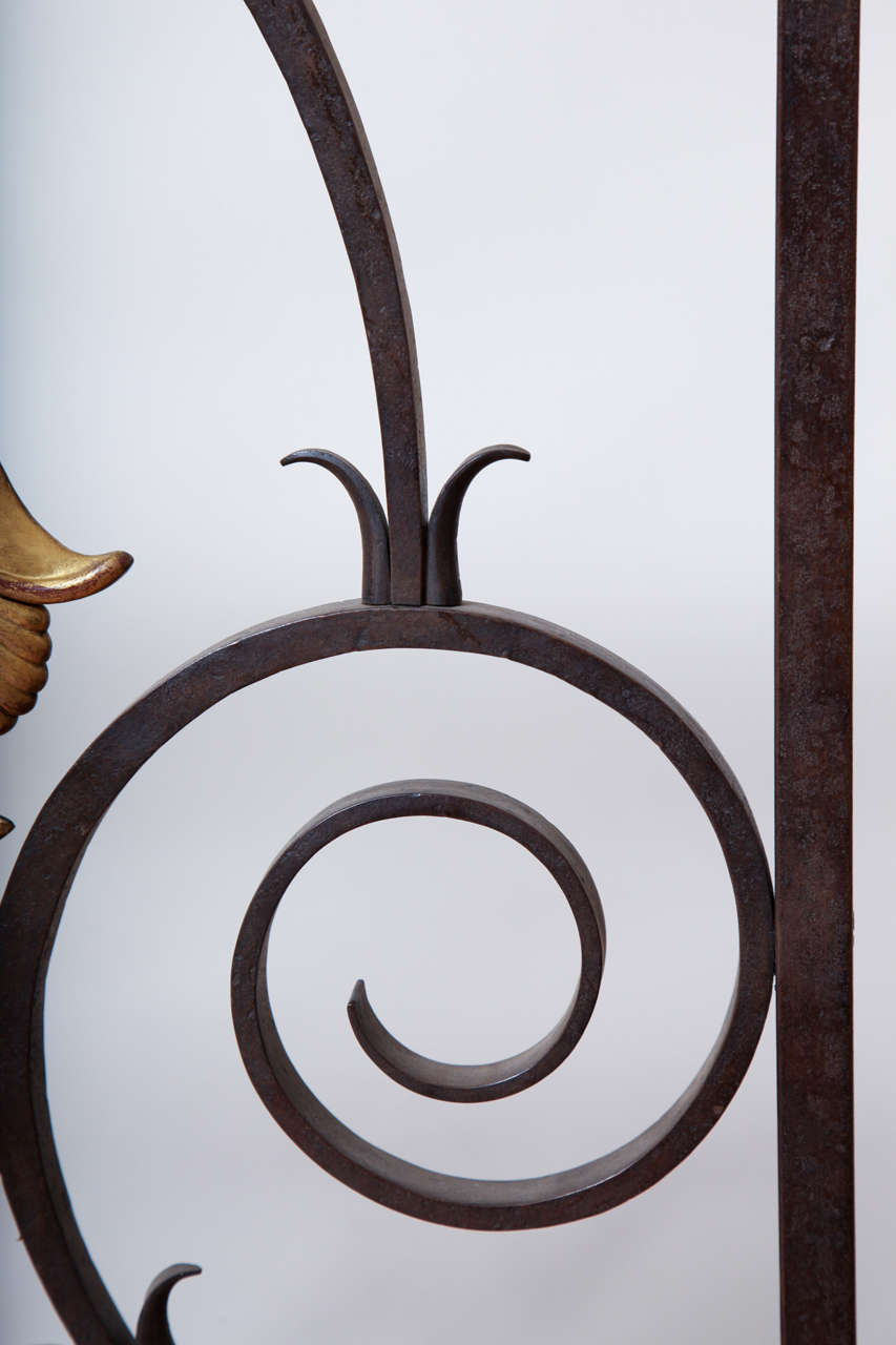 French 1940s Wrought Iron Screen/Gate For Sale 5
