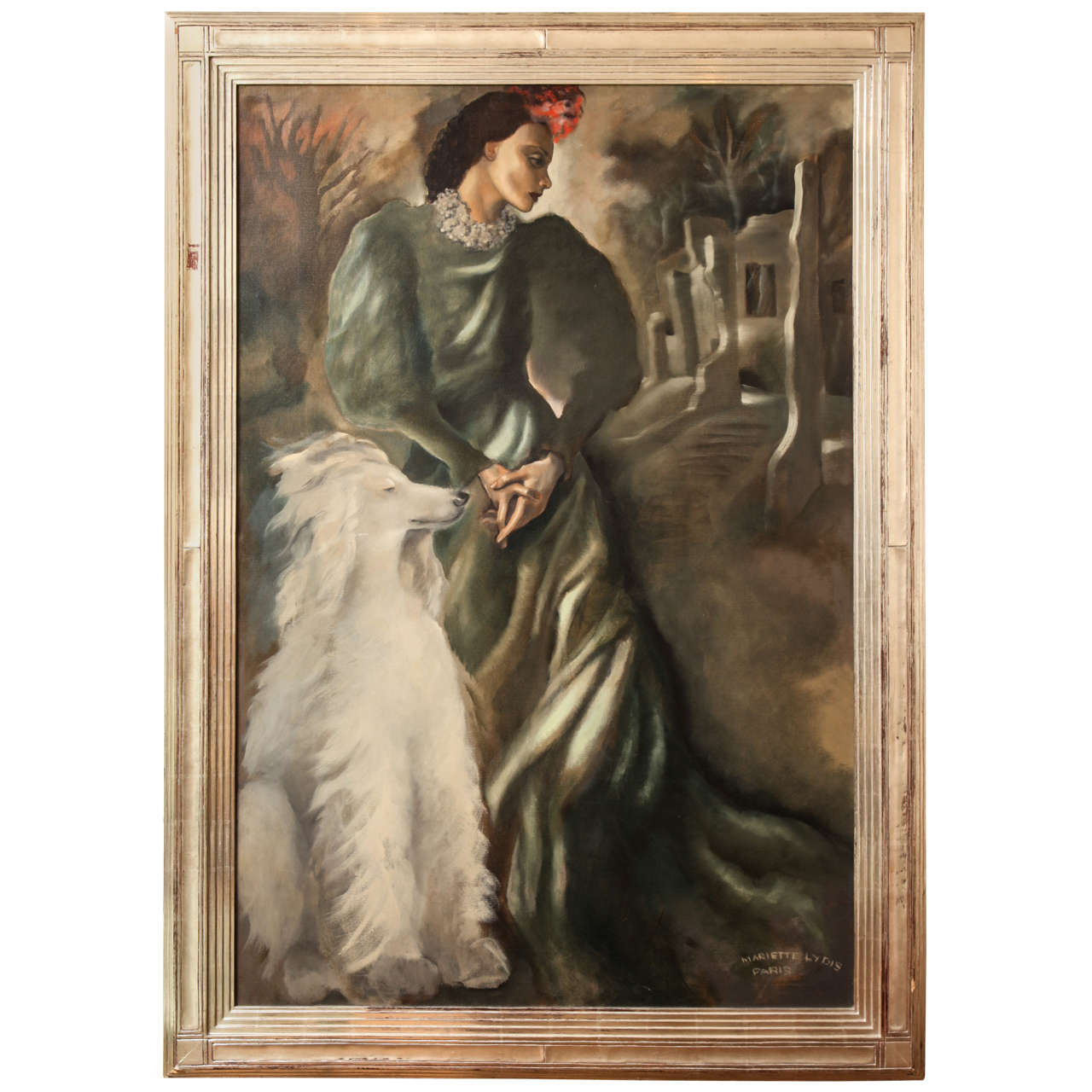 Large art deco painting by mariette lydis at 1stdibs for Art deco era dates