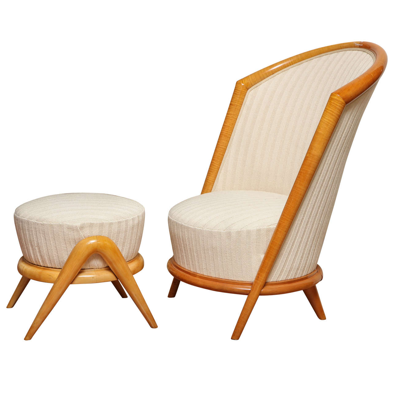French fireside chair, 1950s, offered by Paul Stamati Gallery LLC