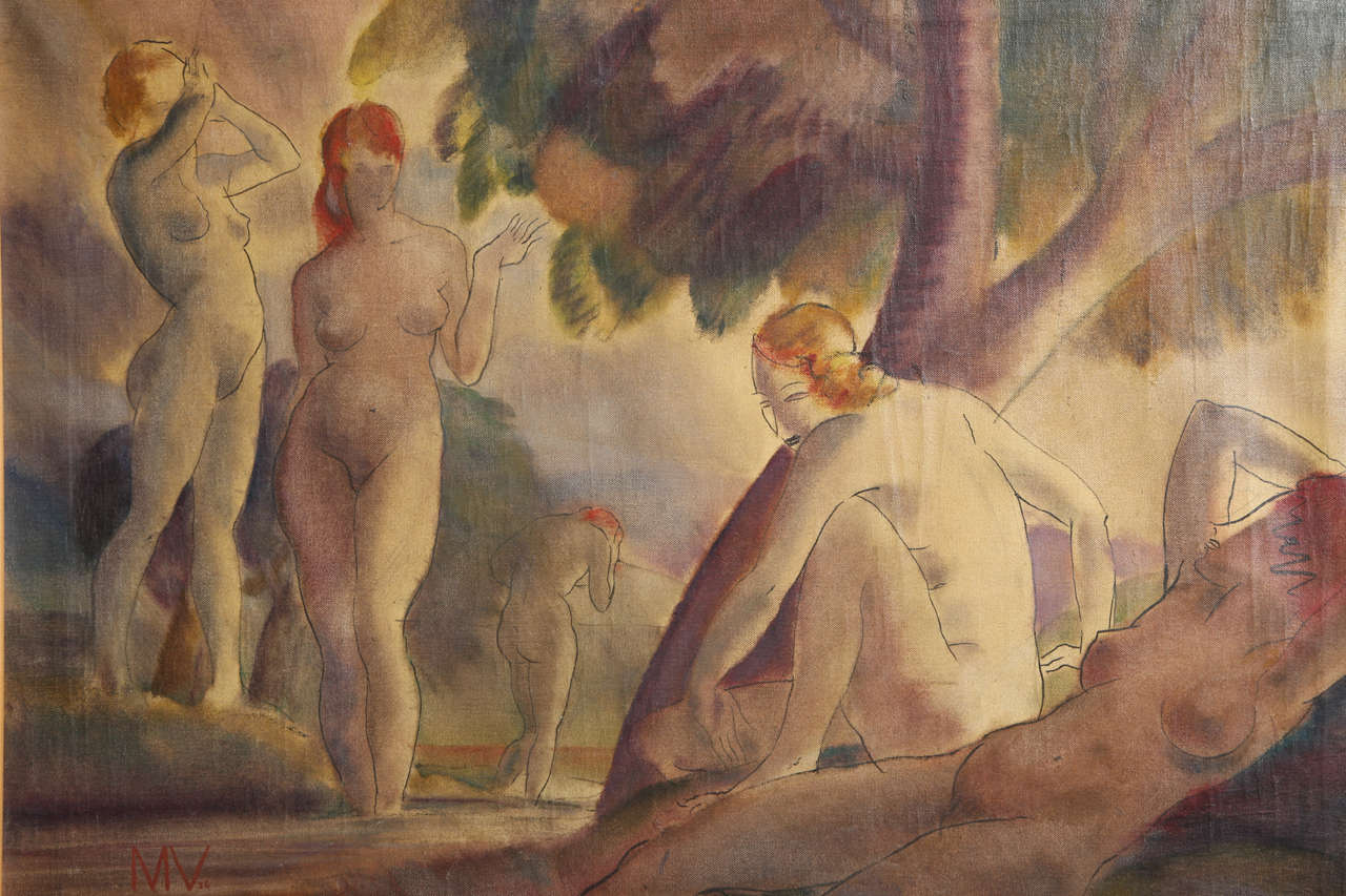 Bathing Nudes, 1938 In Good Condition For Sale In Bridgewater, CT