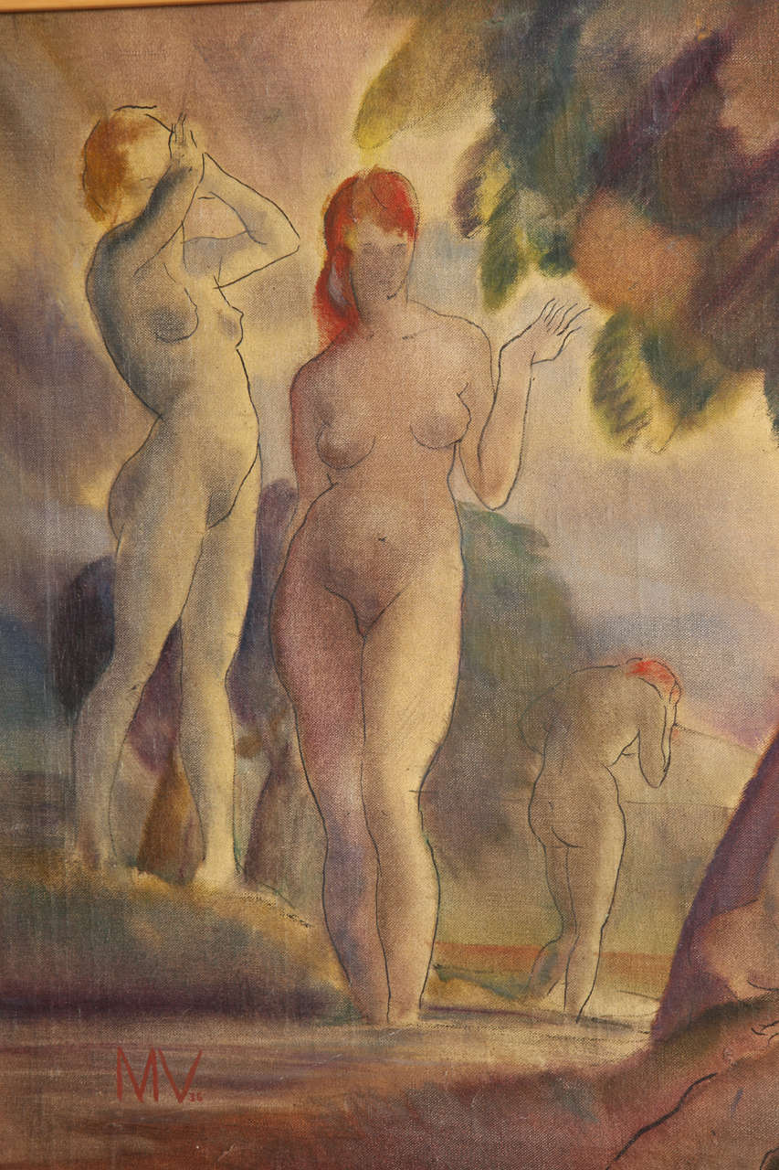 Mid-20th Century Bathing Nudes, 1938 For Sale
