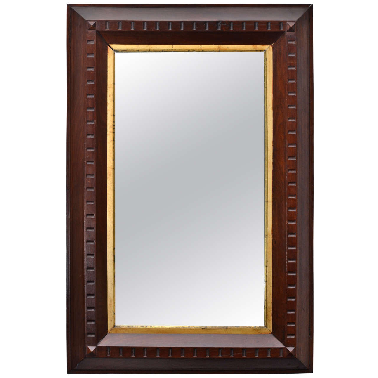 Wooden mirror with inset gilt frame for sale at 1stdibs for What is a gilt mirror
