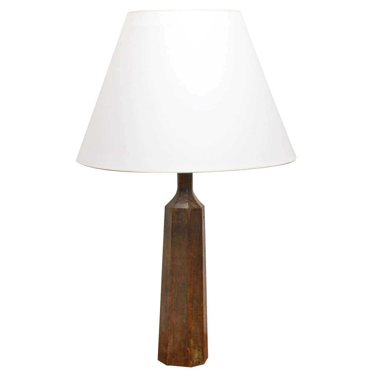rustic carved wooden table lamp at 1stdibs