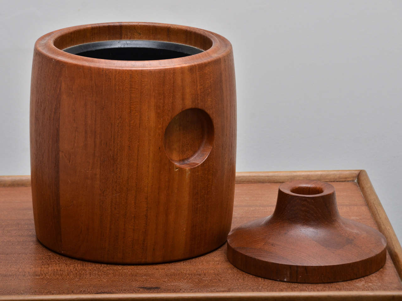 Mid-Century Modern Mid-Century Teak Ice Bucket For Sale
