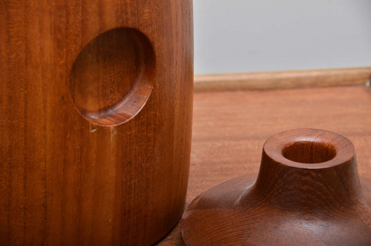 20th Century Mid-Century Teak Ice Bucket For Sale