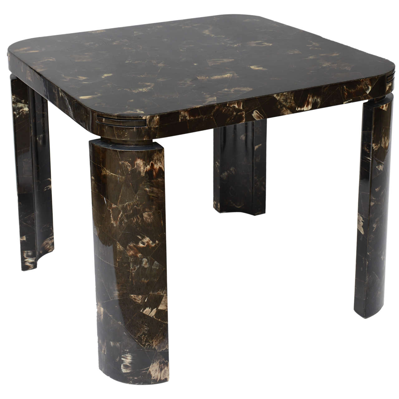 Horn game table in the manner of karl springer at 1stdibs for 11 in 1 game table