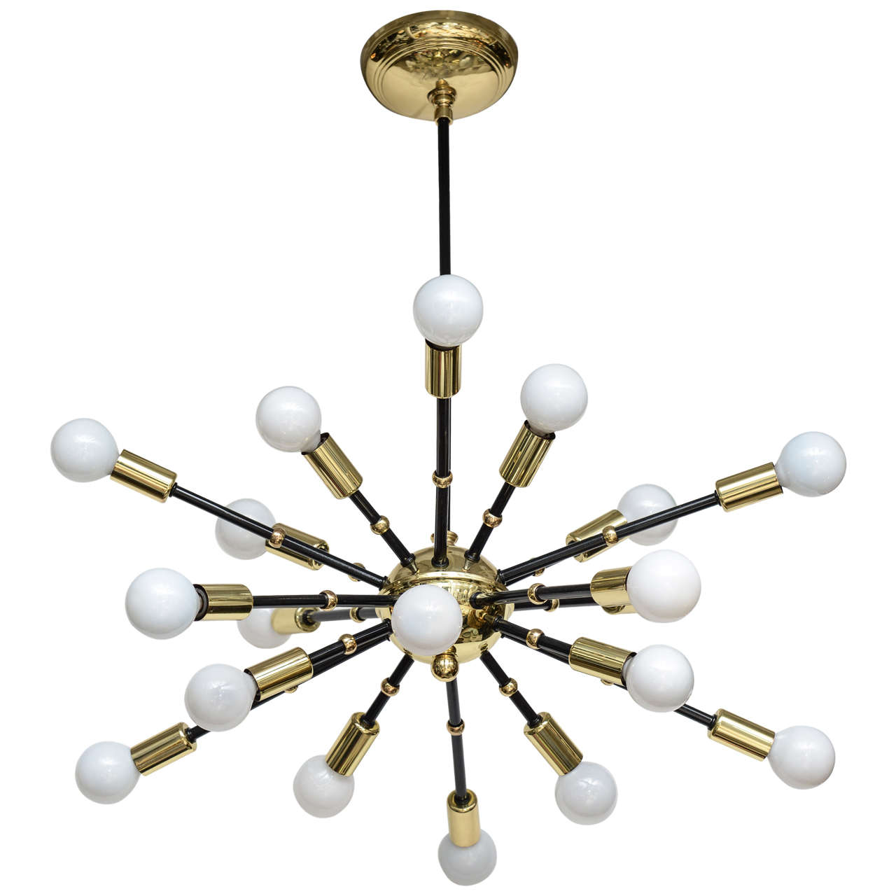 Mid century italian sputnik chandelier at 1stdibs for Contemporary chandeliers and pendants