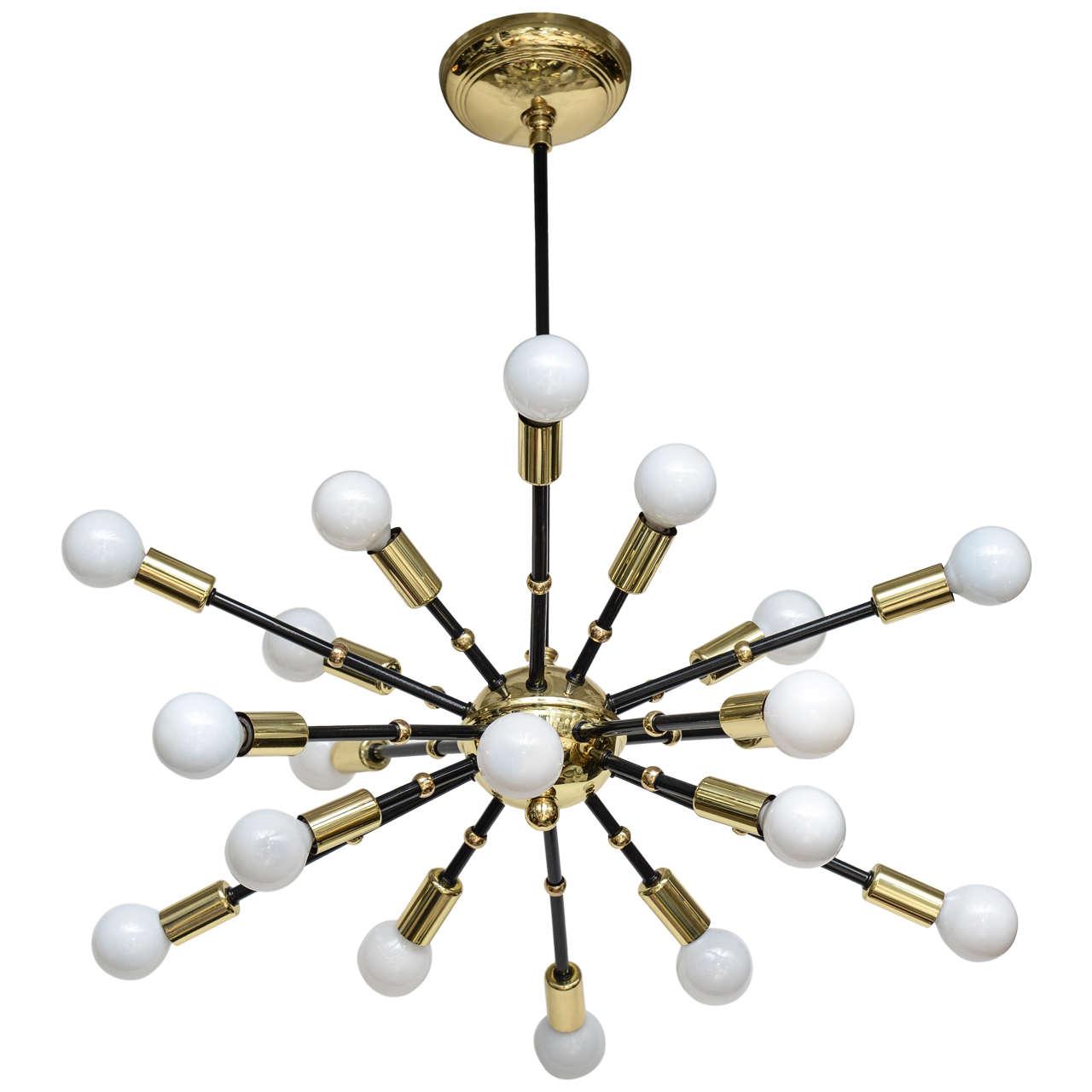 Mid century italian sputnik chandelier at 1stdibs for Sputnik chandelier