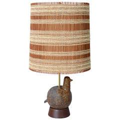 Ceramic Partridge Lamp by Aldo Londi for Bitossi