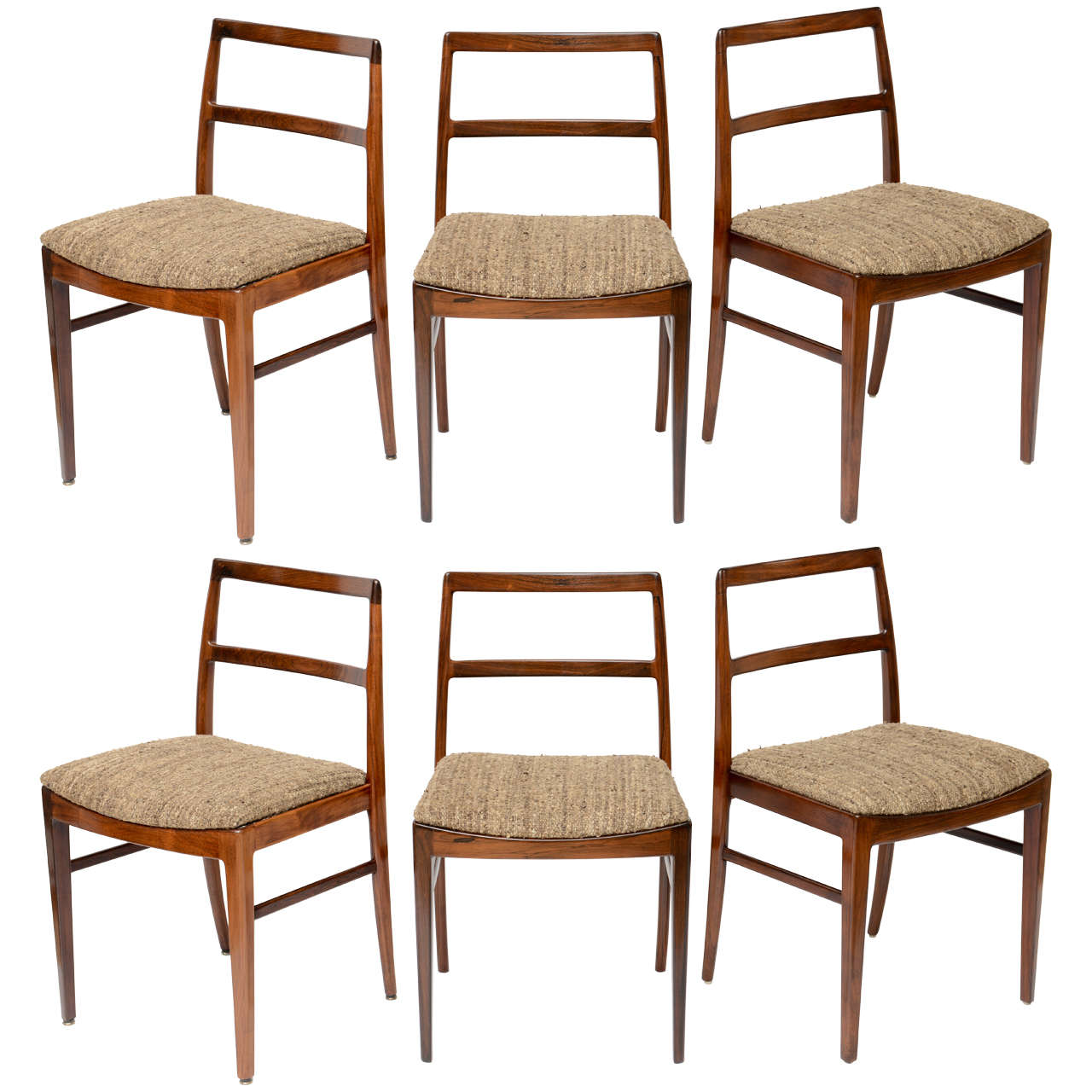 Set of 6 danish rosewood dining chairs at 1stdibs for Danish dining room chairs