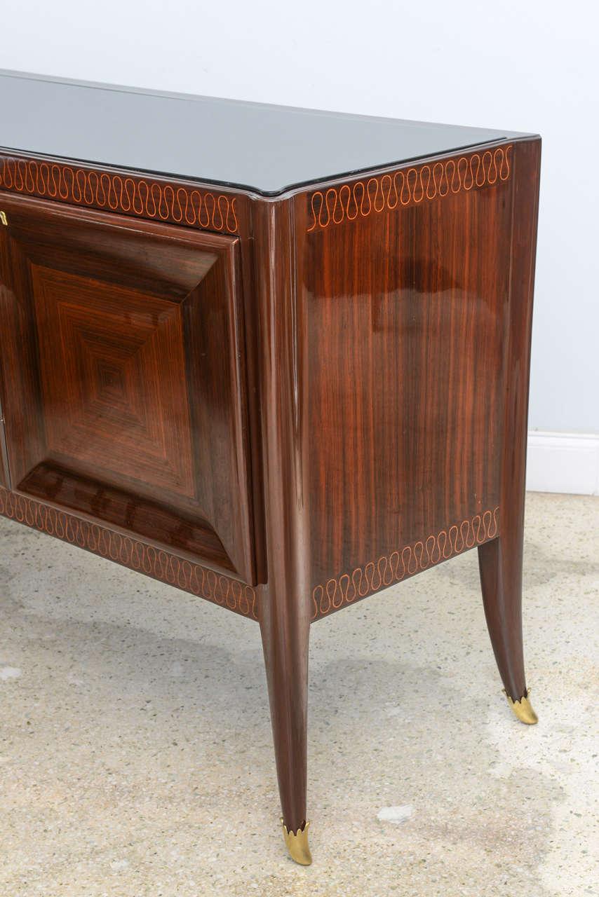 italian modern palisander walnut and olivewood sideboard. Black Bedroom Furniture Sets. Home Design Ideas
