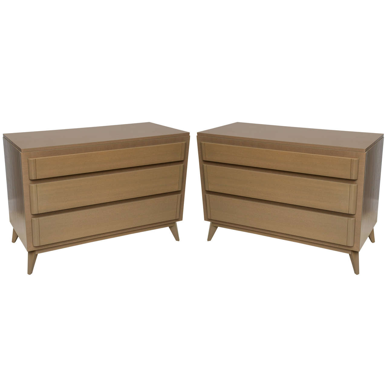 Pair Of American Modern Cerused Oak Commodes For Sale At