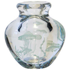 Orrefors Graal Vase Designed by Edward Hald