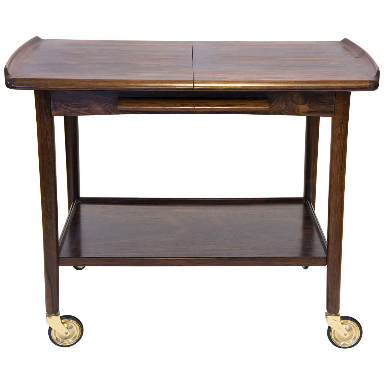 Mid century danish rosewood bar table at 1stdibs for Mid century bistro table