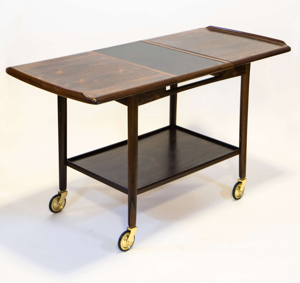 Mid century danish rosewood bar table for sale at 1stdibs for Mid century bistro table