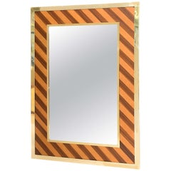 Brass-Framed Mirror