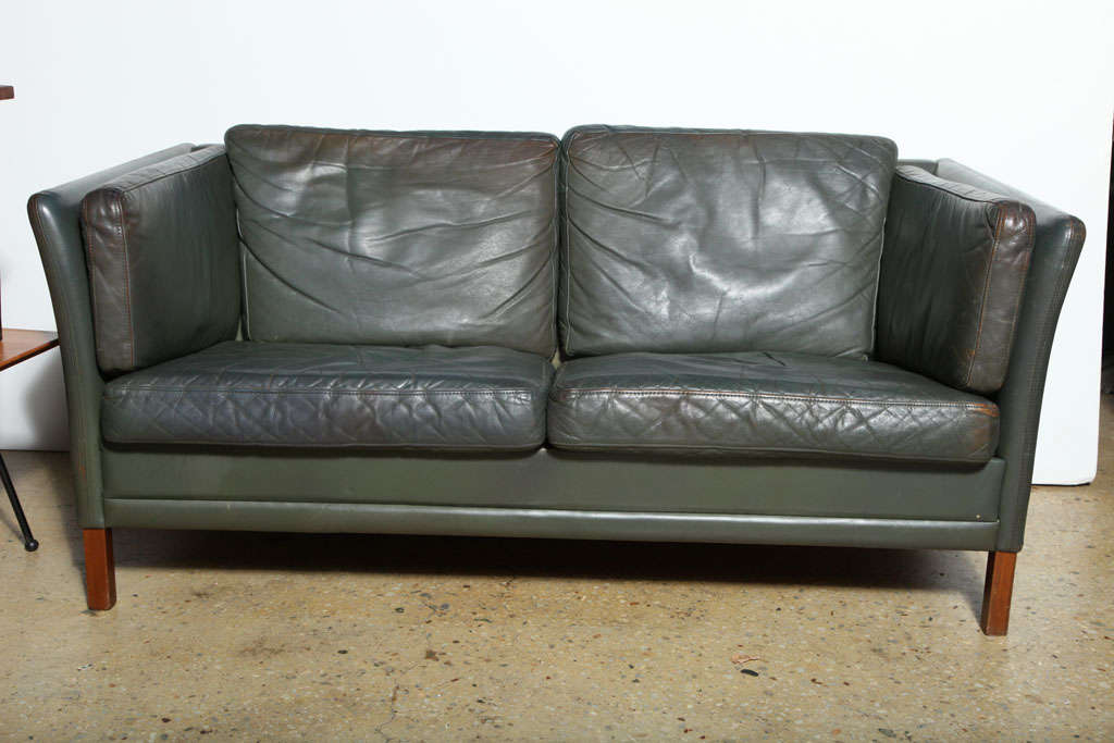 Danish Borge Mogensen Love Seat For Sale